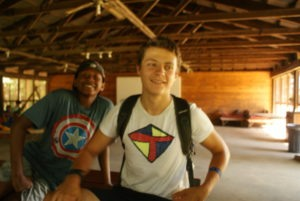 Boys enjoying camp life at Kupugani