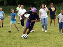 Camper Participating in Soccer