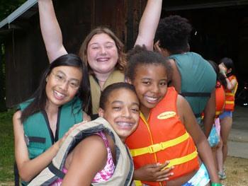 Girls having fun at Camp Kupugani
