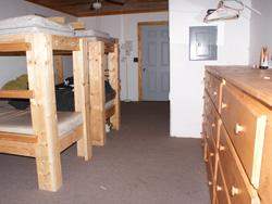 Staff Cabin bunks at Camp Kupugani