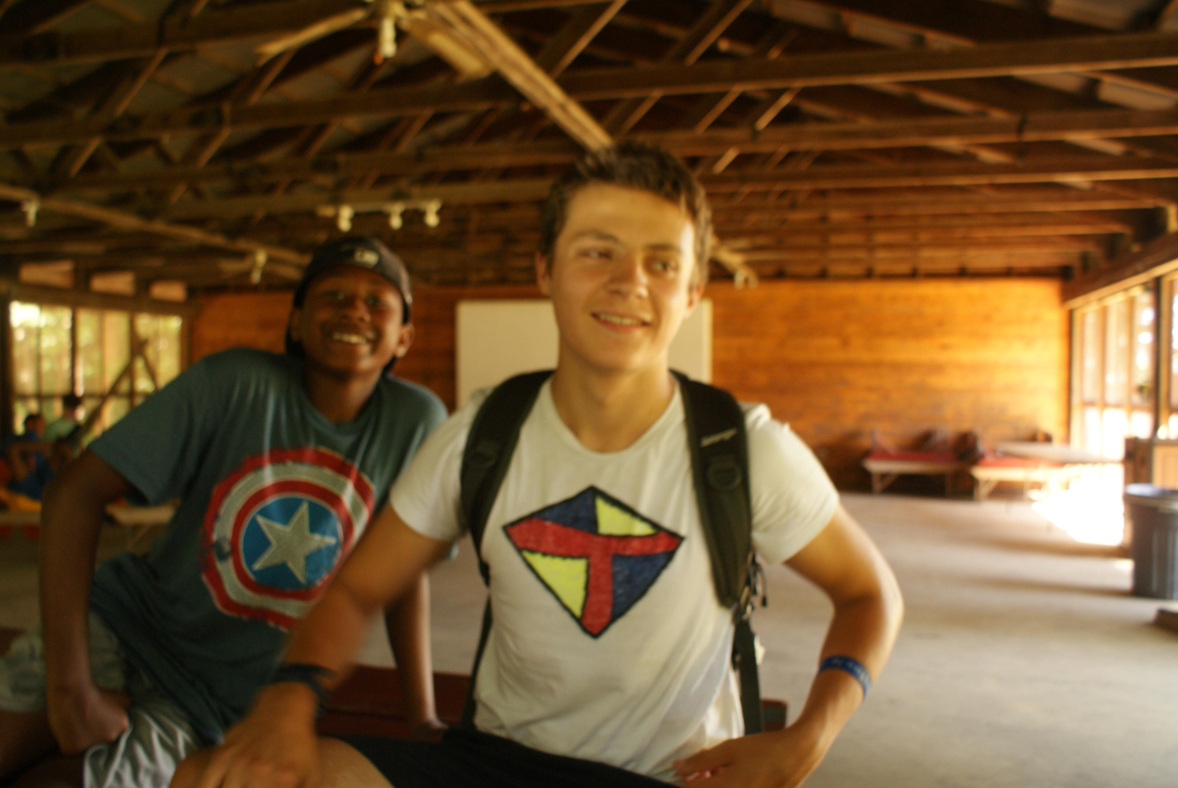 Boys enjoying camp life at Camp Kupugani