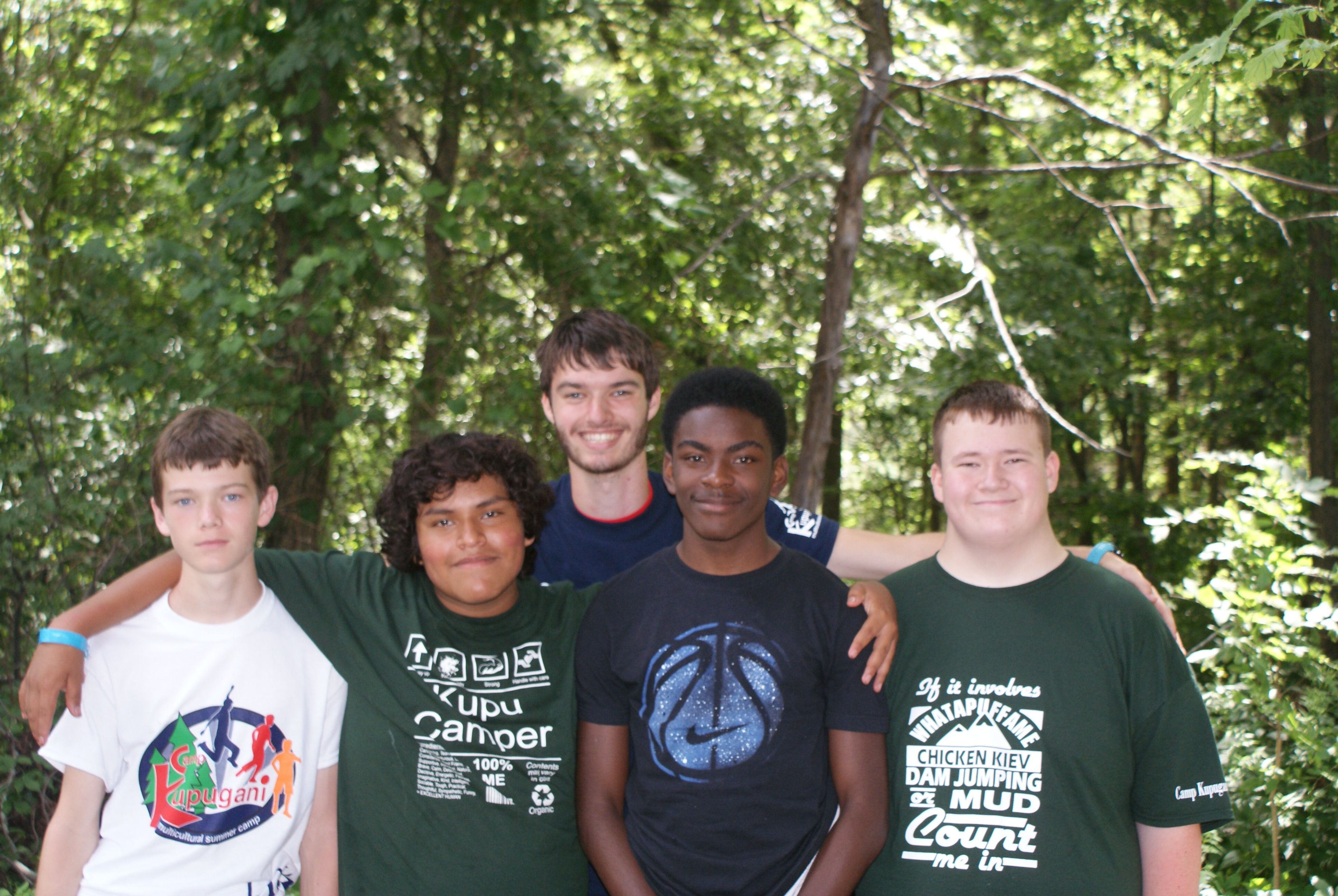 Boys Camp campers enjoying camp life at Camp Kupugani