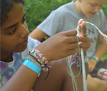 Within our many different types of craft activities, you can let your creative juices flow or find them for the first time. From candle making to drawing, painting, beading, tie-dying, plaster casting or lanyards, there are many craft options available. Be prepared! Campers will have many projects to bring home at the end of camp!